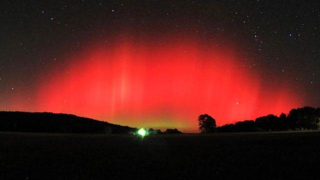 Northern Lights Make Rare Appearance Over Oklahoma
