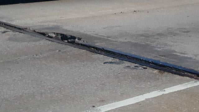 Small Hole Opens Up In Tulsa Highway Bridge Decking