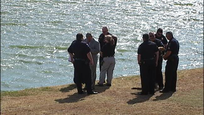 Dog Finds Human Foot In East Tulsa Retention Pond