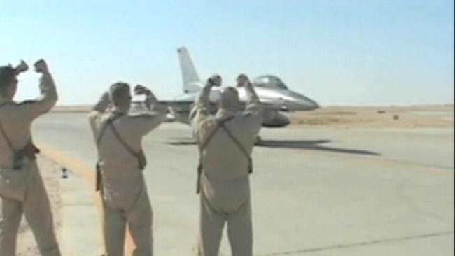 Oklahoma Air National Guardsmen Protecting Troops As They Leave Iraq