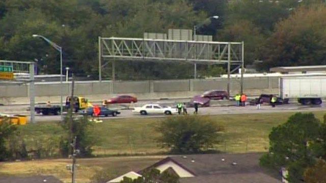 Crash On Tulsa's Highway 169 Stops Northbound Traffic