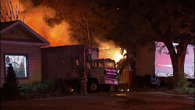 Suspicious Tulsa House Fire Also Damages Two Nearby Trucks