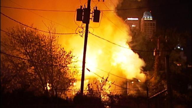 Crews Battle Structure Fire Near Downtown Tulsa