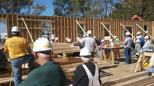 Volunteers Busy Building Thunderbird Chapel At Camp Gruber