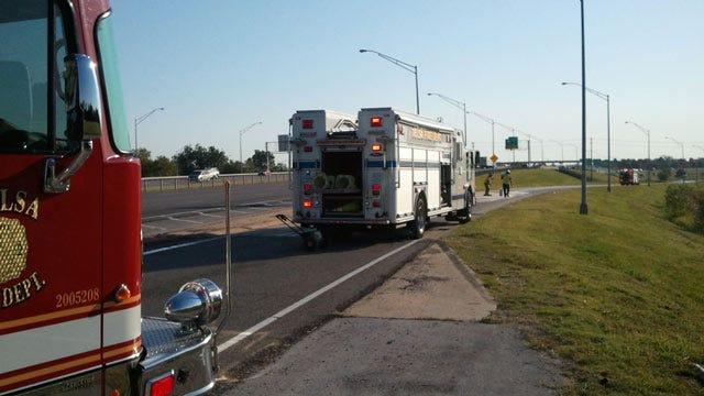 Tulsa's Mingo Drive Closed Under I-244 Because Of Hydraulic Leak