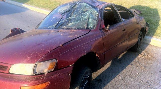 Sleepy Driver Involved In Tulsa I-44 Rollover Wreck