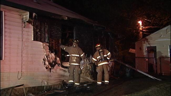 Tulsa Firefighters Save One Of Three Dogs In House Fire