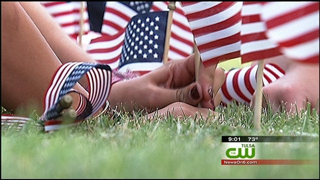 Oklahomans Fly 'Old Glory' To Commemorate 9/11