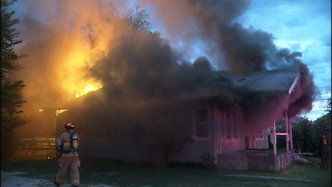 Tulsa Firefighters Knock Down Blaze In Vacant House