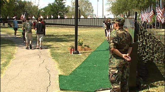 Traveling Vietnam Memorial Wall On Display In Tulsa