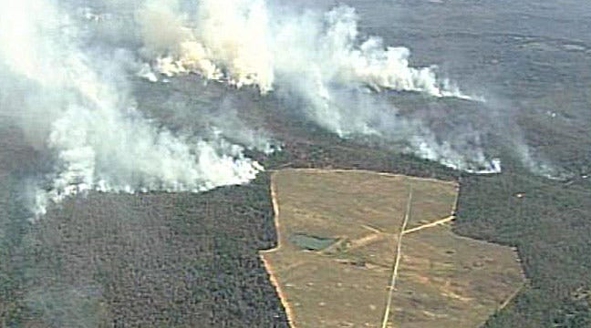 Camp Gruber Fire Causes Green Country Haze