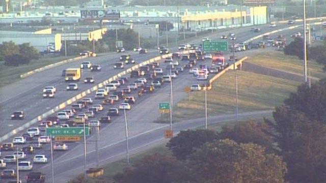 Traffic Slows To Crawl After Crash On Tulsa's U.S. Highway 169