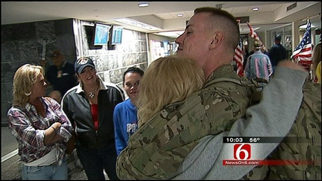 Friends, Family Proudly Welcome Home Green Country Soldier
