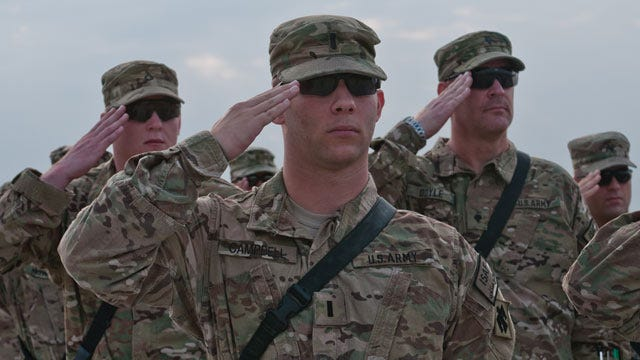Oklahoma's 45th Infantry Brigade Combat Team Holds Combat Patch Ceremony
