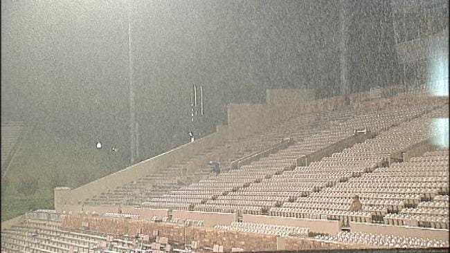 Severe Storms Delay TU Game, More Storms Possible