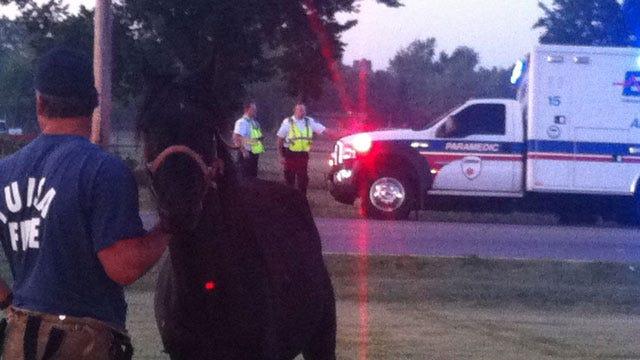 EMSA Ambulance Hits Horse In Middle Of Tulsa Street