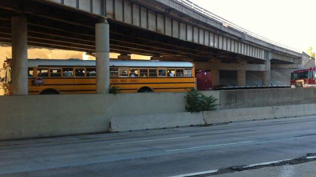School Bus Wreck Injures 2 Children In Downtown Tulsa