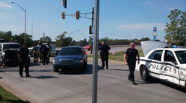 Tulsa Police Officer Involved In Collision