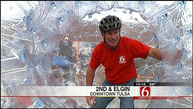 News On 6 Meteorologist Goes All In For 'Human Bowling'