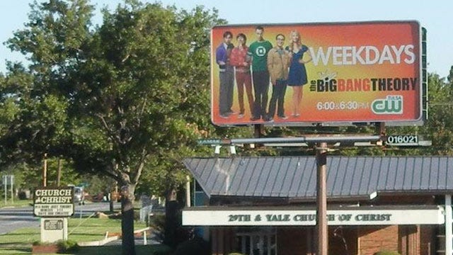 Tulsa Church Uses Marquee To Counter Billboard Message