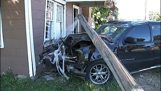 Tulsa Police: Man Choking On Coffee Crashes Into Home