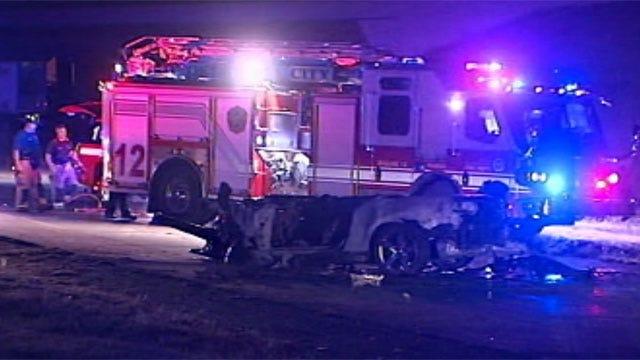 Five Die In Fiery Crash On Oklahoma City Highway
