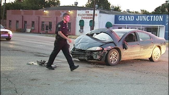 OHP Trooper: Trying To 'Beat The Light' Causes Sand Springs Wreck