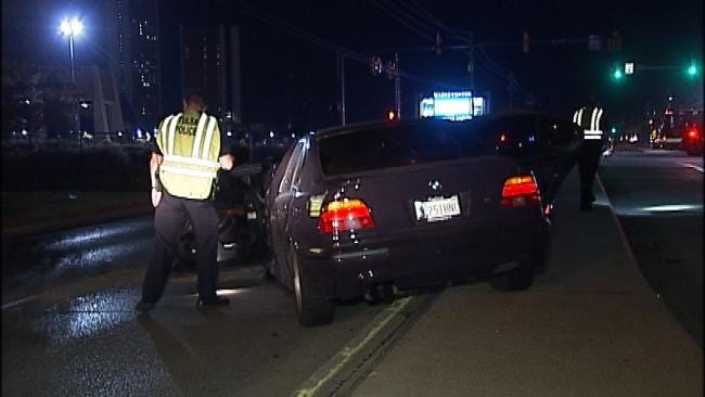 BMW Rear Ends Car In South Tulsa, Driver Runs Away