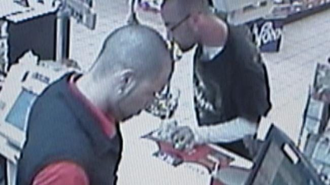 Surveillance Video Shows Kum & Go Armed Robbery Suspect