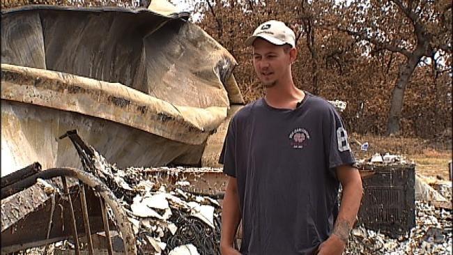 Looters Pick Through Debris Of Homes Burned In Wildfires