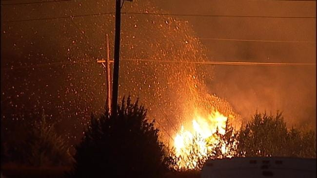 Sheriff's Office: Trash Pile Fire To Blame For Massive Creek County Wildfire