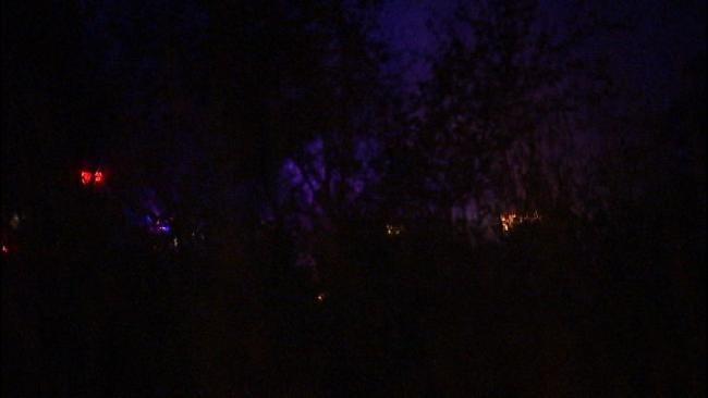 Catoosa Grass Fire Burns Railroad Ties