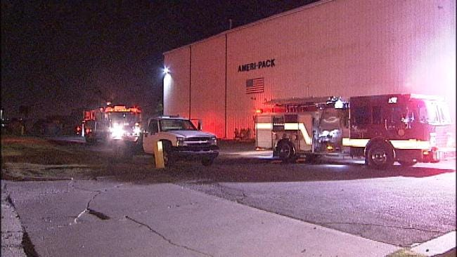 Air Compressor Catches Fire At Tulsa Business