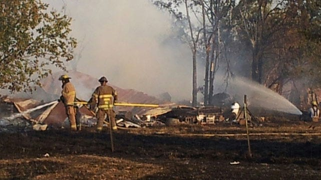 Fires Started By Farm Equipment Destroy Structures In Mayes County
