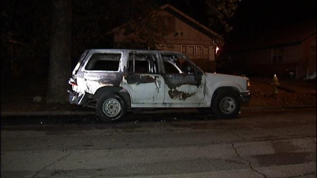 Tulsa Fire Department Investigates Two Overnight Car Fires