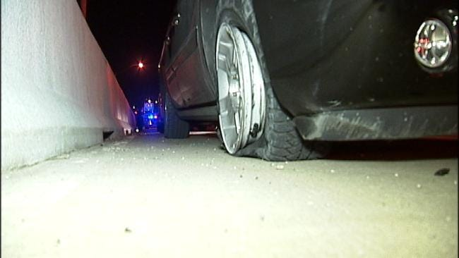Van Damaged In Crash On Tulsa Highway
