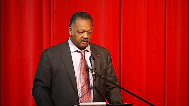 Rev. Jesse Jackson Encourages Tulsa Students To Study Hard