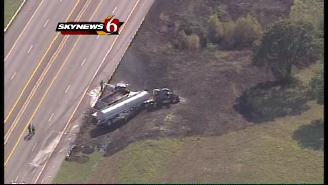 Turner Turnpike Reopened After Fiery Semi Crash Closes Highway For 3 Hours