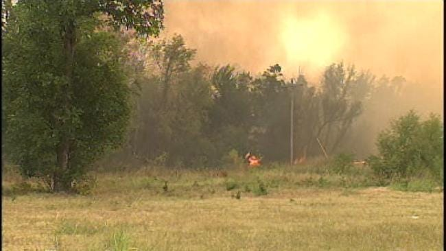 Highway Closed, Homes Lost In Creek County Wildfires