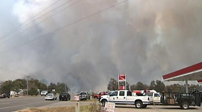 Creek County Residents Flee Wildfire's Path