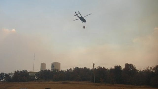 Creek County Wildfire Rages On; Towns Evacuated