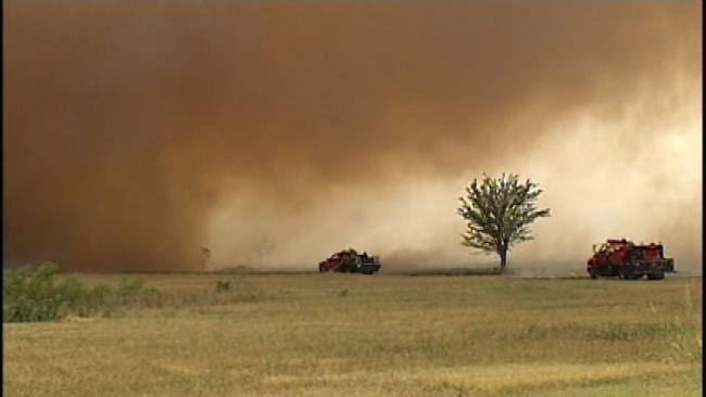 Residents Return To Wildfire-Ravaged Creek County
