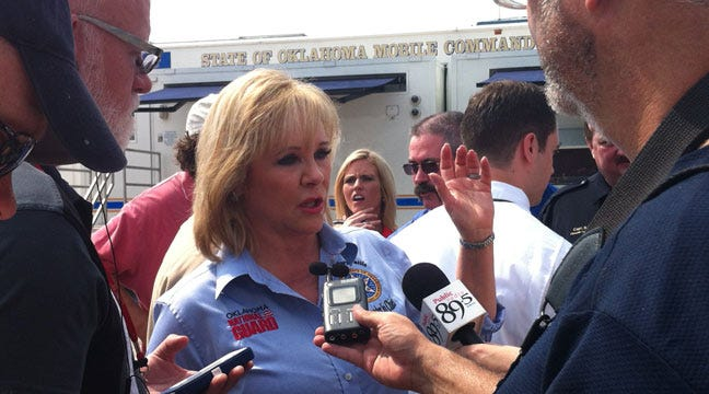 Governor Mary Fallin Tours Wildfire Damage In Creek County