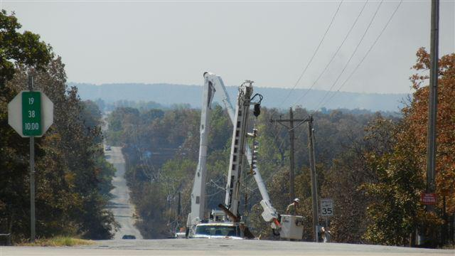 Linemen Work To Restore Power To Wildfire-Ravaged Creek County