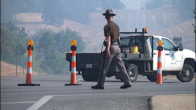 OHP: All Creek County Highways Reopened After Weekend Wildfires