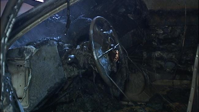 Car Parked At Tulsa Restaurant Goes Up In Flames