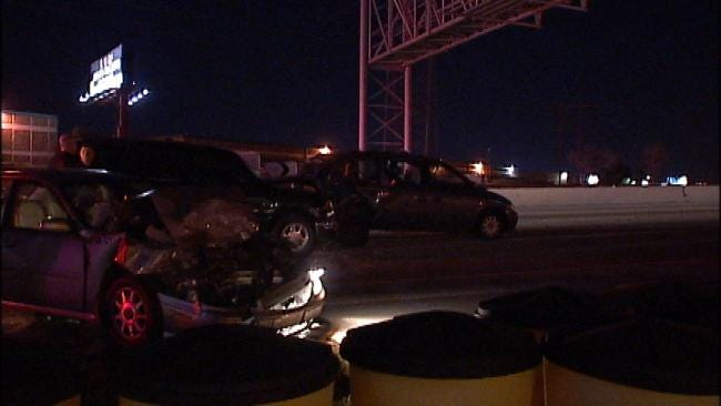 Chain-Reaction Crash On Tulsa's BA Expressway Injures One