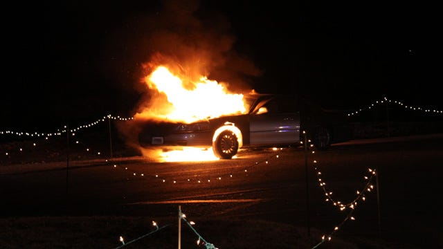 Elderly Women, Kids Rescued After Car Catches Fire During Muskogee Lights Tour