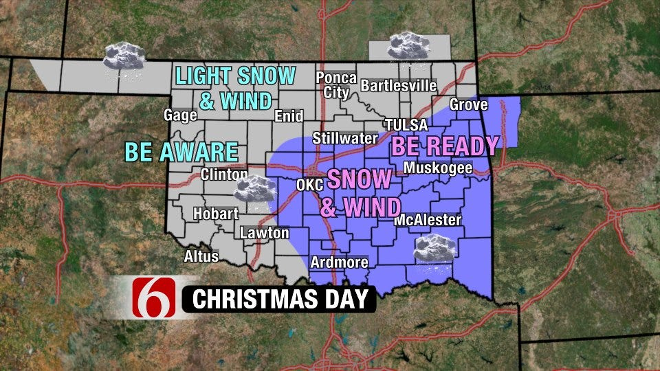 Snow Potential For Christmas Day