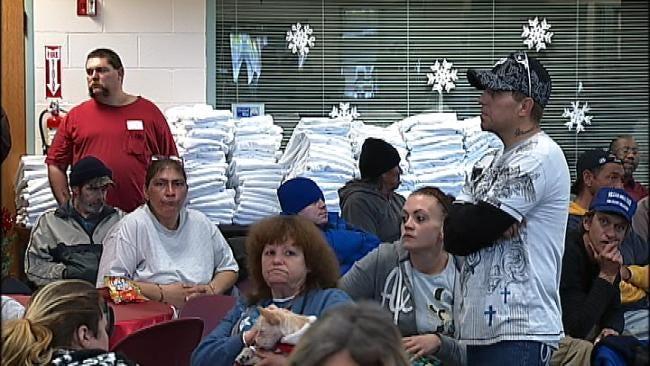 Tulsa's Homeless Receive Warm Winter Gesture